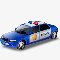 Blue Police Car PNG