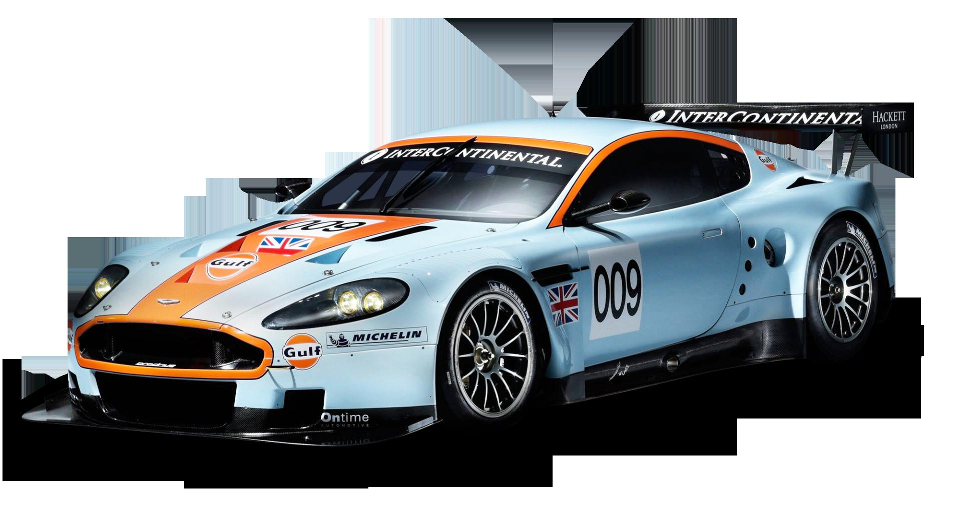 Aston Martin Racing Car PNG Image - Blue Race Car PNG
