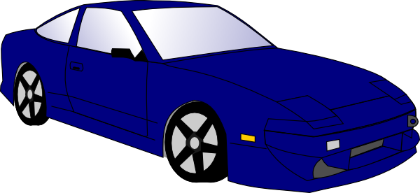 Download this image as: - Blue Race Car PNG