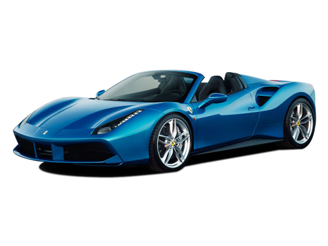 ferrari 488 Base - Blue Race Car PNG