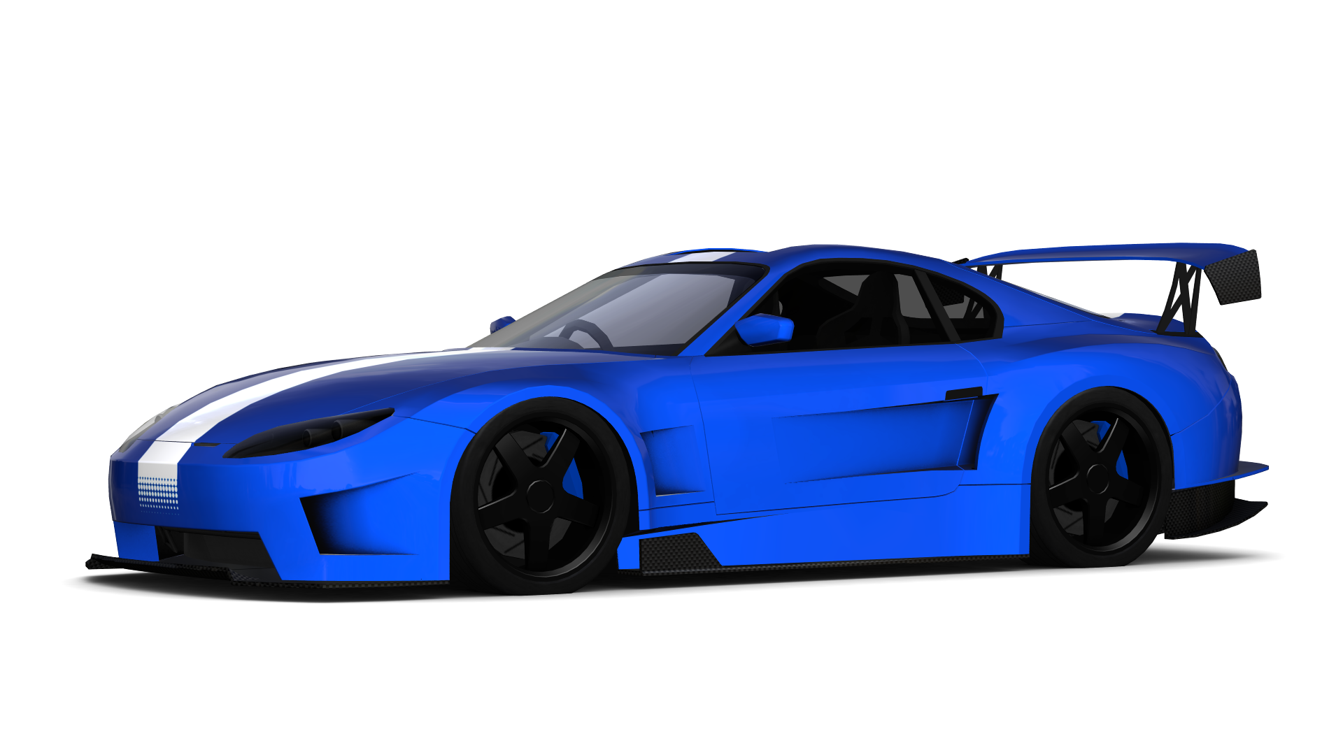 Racing Car - Blue Race Car PNG