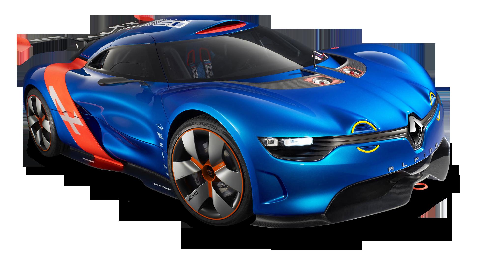 Renault Alpine A110 50 Racing Car PNG Image - Blue Race Car PNG