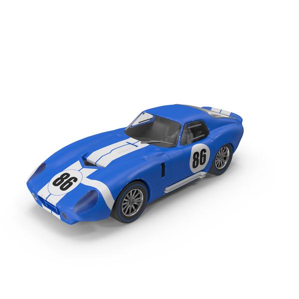Slot Car - Blue Race Car PNG