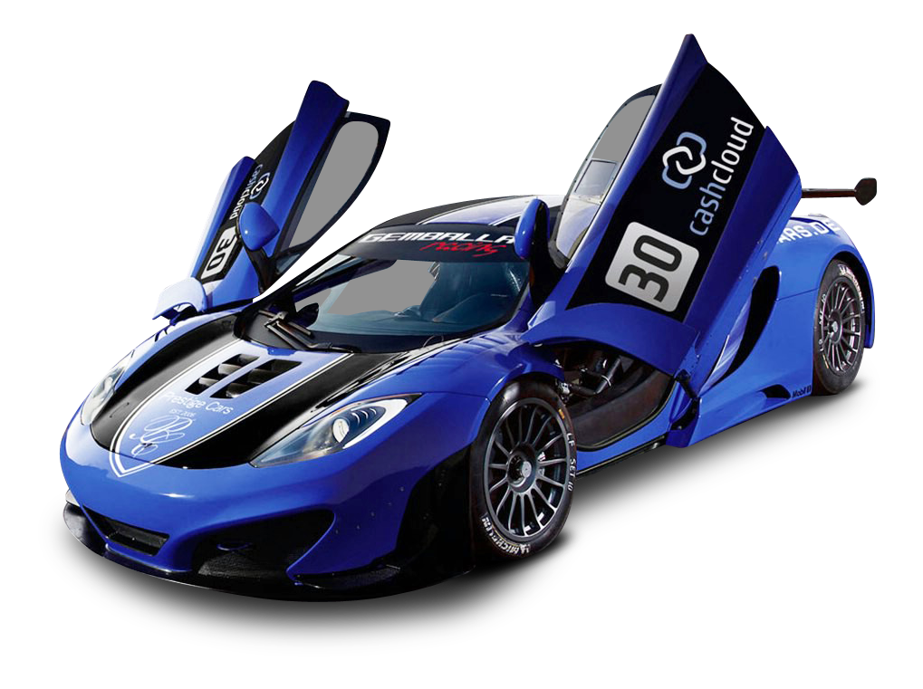 This high quality free PNG image without any background is about car,  vehicle, transport - Blue Race Car PNG