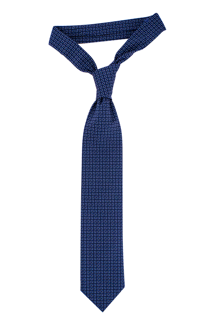 Navy and light blue check necktie - Blue Ties PNG