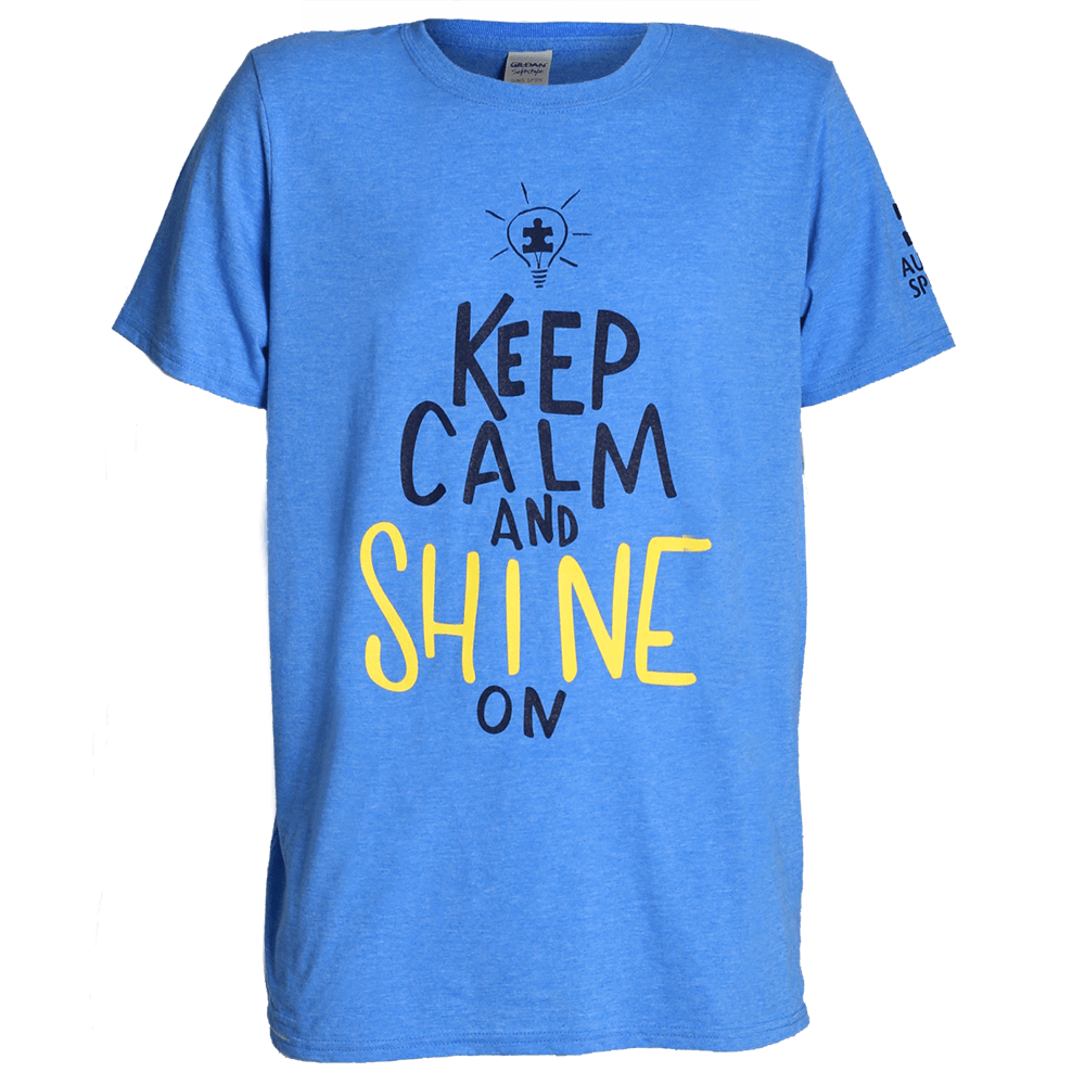 Keep Calm and Shine On T-Shirt - AT17012 - Blue Tshirt PNG