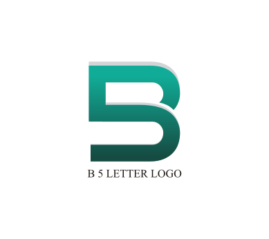 Blogger B logo vector .