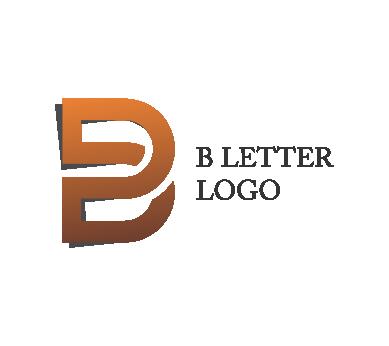 B d alphabet logo psd design