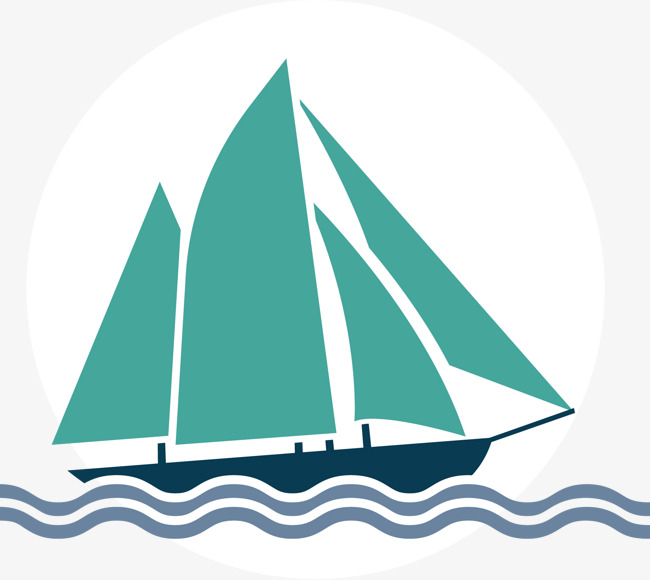 Sailing boat in the sea, Sail, Sailboat, Ship PNG and Vector - Boat In The Sea PNG