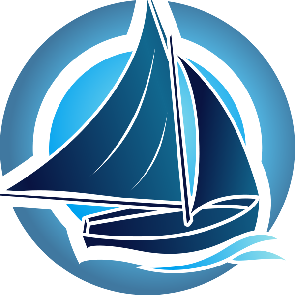 File:Travel boat blue logo.png - Boat Trip PNG