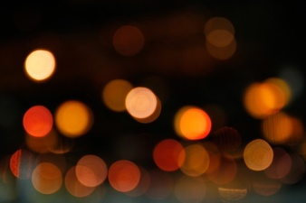 Yellow bokeh lights christmas