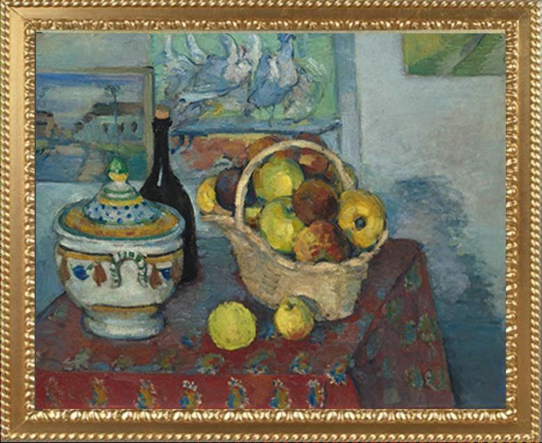 Nature morte avec bol de soupe et Apple panier u2013 Paul Cezanne - Bol De Soupe PNG