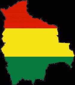 Bolivia Flag Map - Mapsof.Net Map - Bolivia PNG