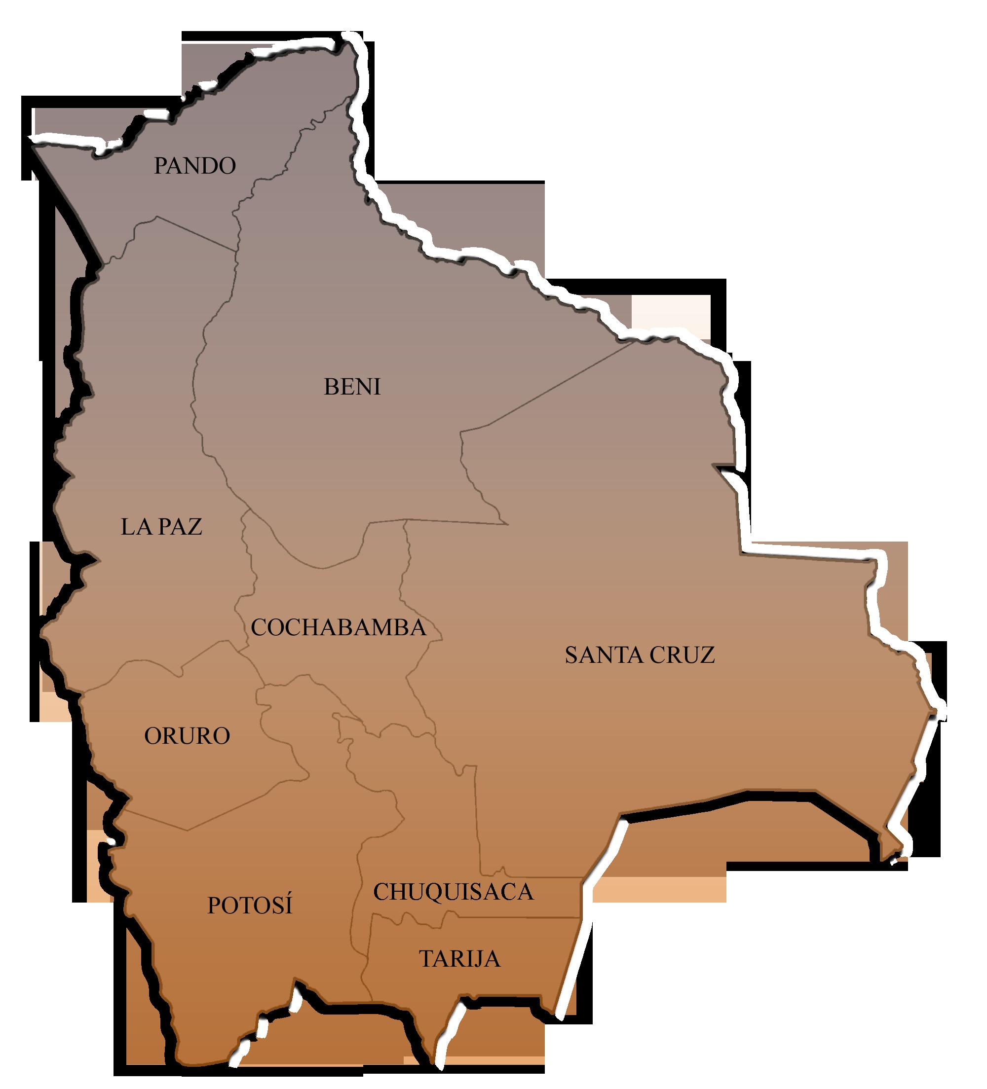 File:Departamentos de Bolivia.png - Bolivia PNG