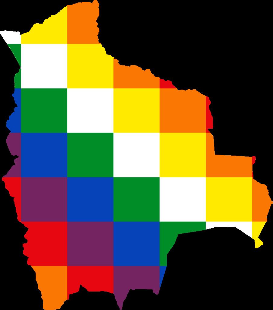 File:Flag map of Bolivia (Qulla Suyu banner).png - Bolivia PNG