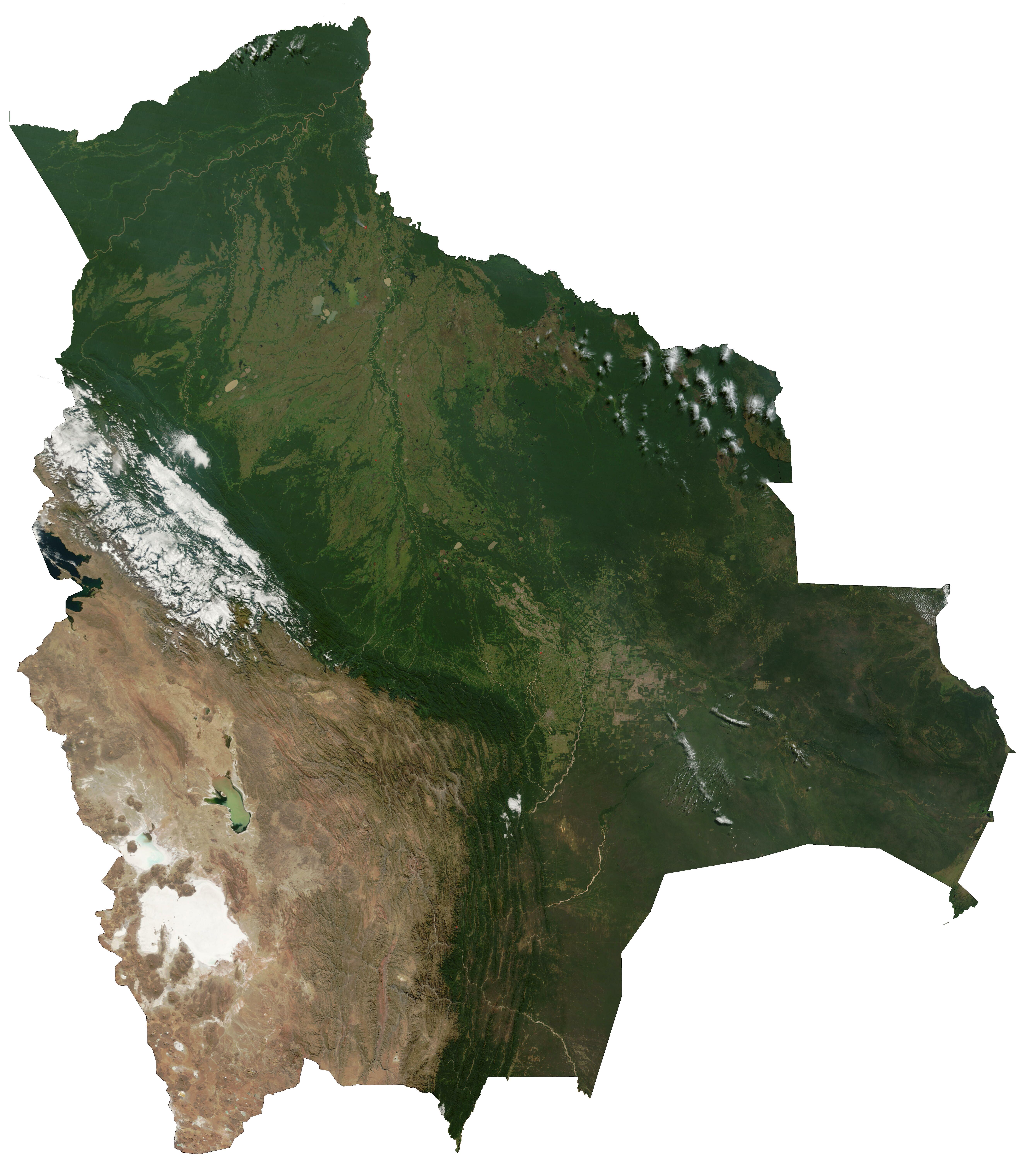 File:Satellite image of Bolivia.png - Bolivia PNG