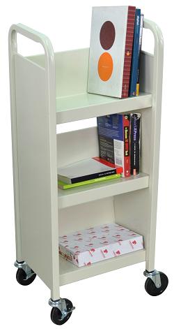 3 Shelf Small Library Book Cart - Book Cart PNG