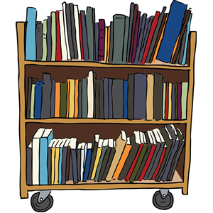 Library Book Cart clipart, cliparts of Library Book Cart free download  (wmf, eps, emf, svg, png, gif) formats - Book Cart PNG