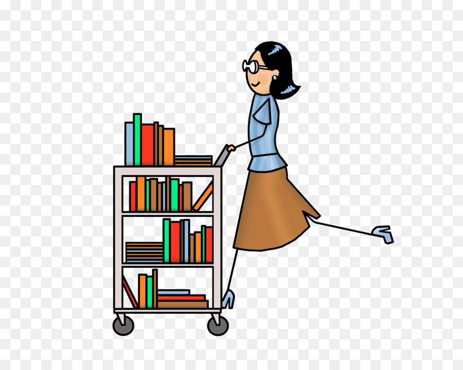 Library Cart Clip art - book - Book Cart PNG