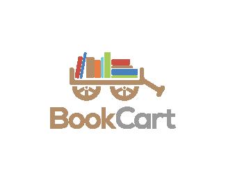 Logo Design - Book Cart - Book Cart PNG