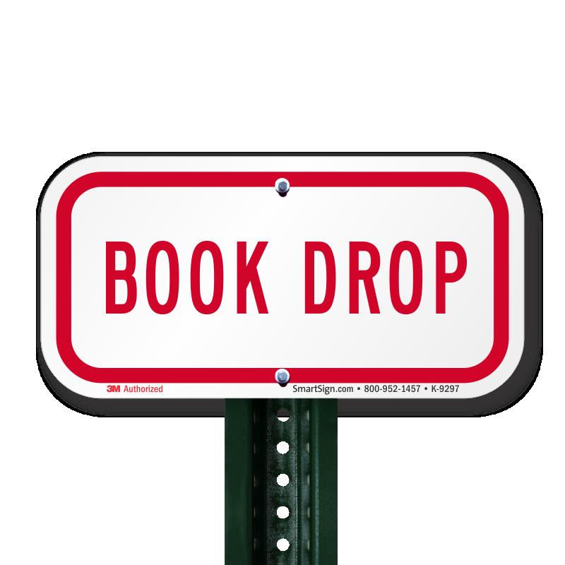 BOOK DROP Sign PlusPng.com  - Book Drop PNG