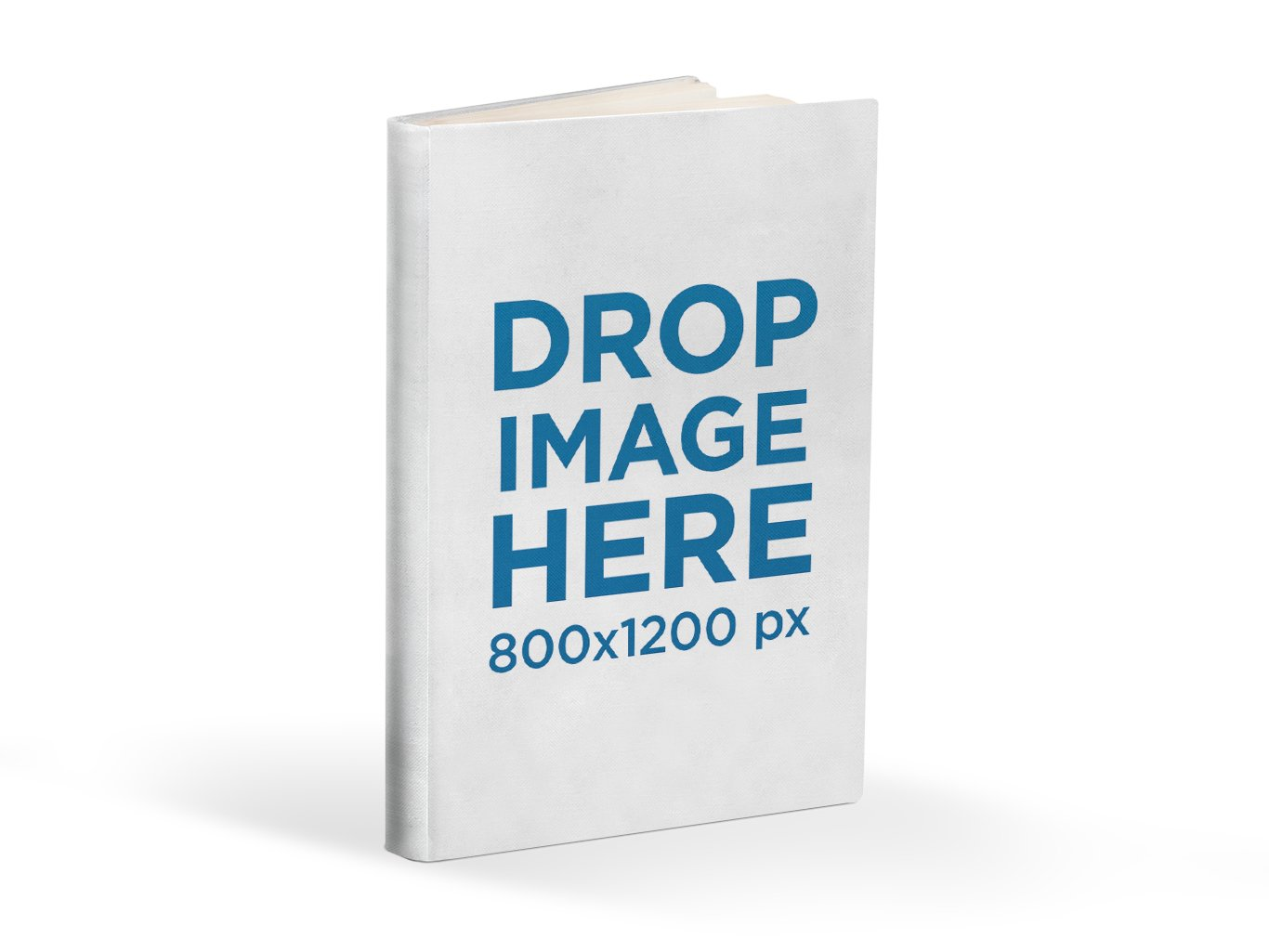 E-Book Cover Mockup Template over Transparent Background - Book Drop PNG