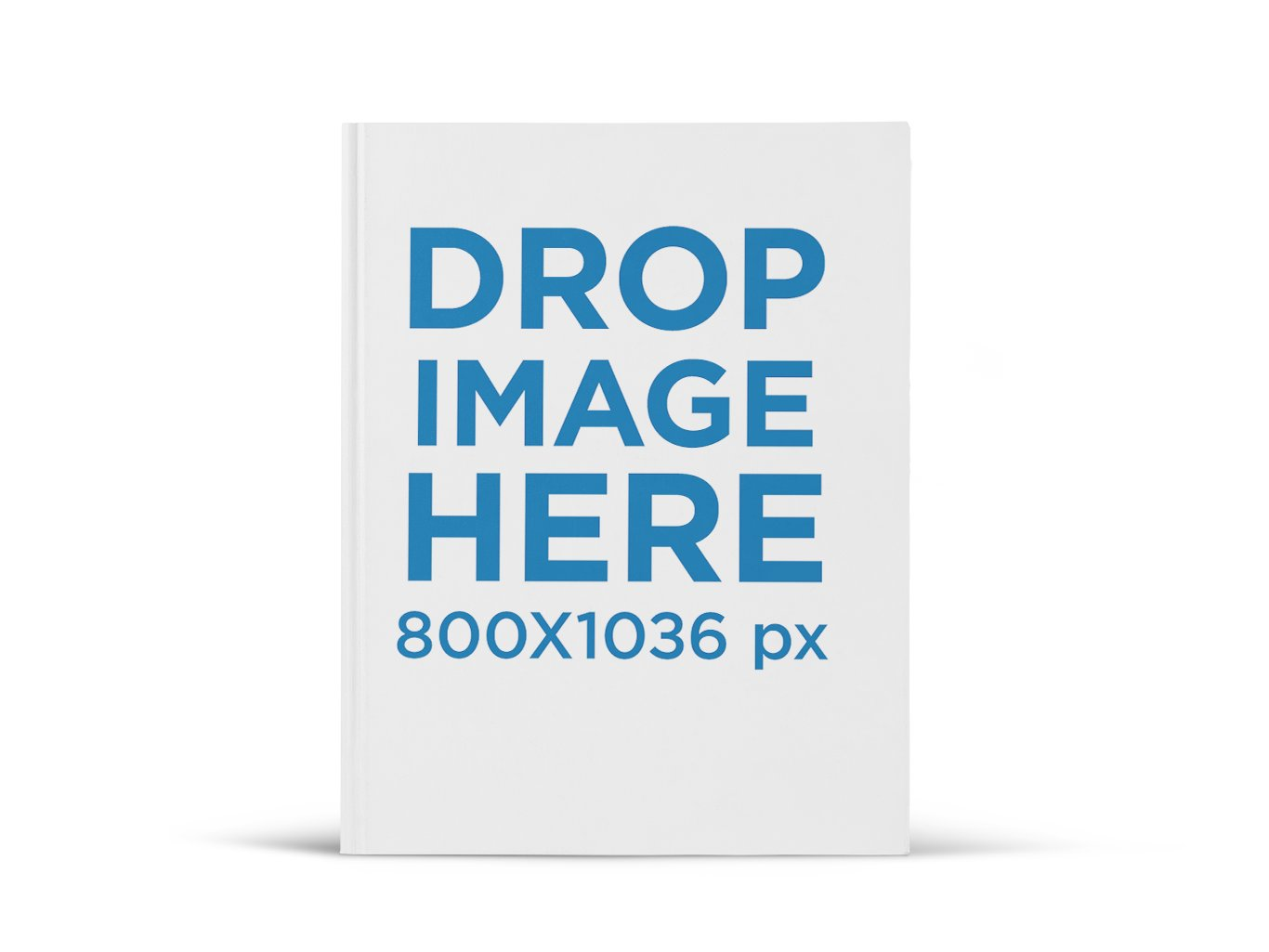 Hardcover Ebook Mockup Standing Over a Flat Surface - Book Drop PNG