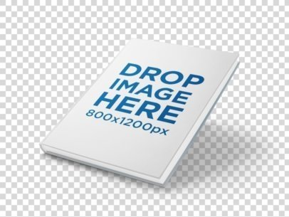 Mockup of a Hardcover Book Floating Over a PNG Background - Book Drop PNG
