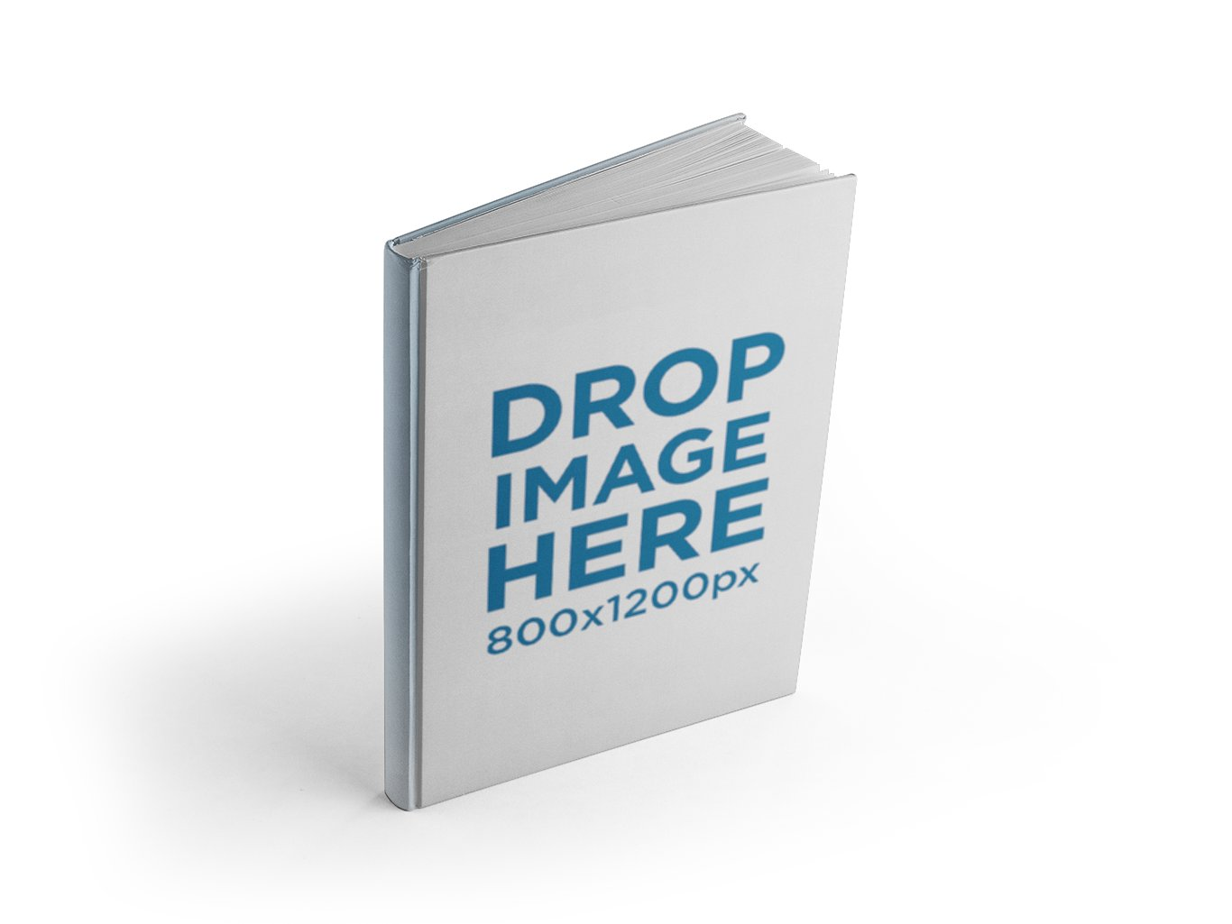 The book is standing on a transparent surface, starting to open itself.  Just drag-and-drop a jpeg or png PlusPng.com  - Book Drop PNG