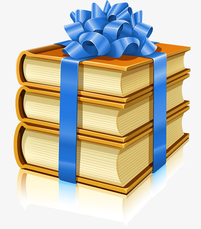 A Gift Book Wrapped In Ribbons, Book, Book, Logo PNG And Vector - Book Gift PNG