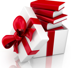 Healthy Holiday Gifts: Books - Book Gift PNG