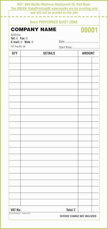 Restaurant Receipt Book Template - Book Order PNG
