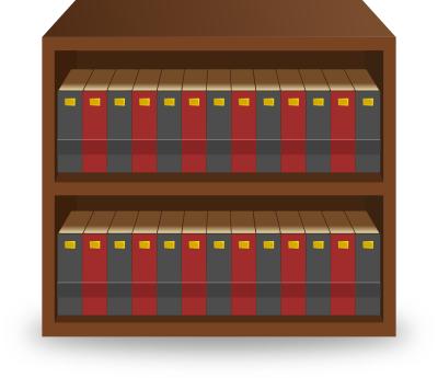 Bookshelf PNG HD - 120669