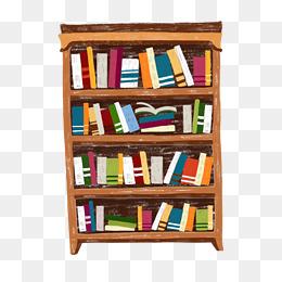 Bookshelf PNG HD - 120675