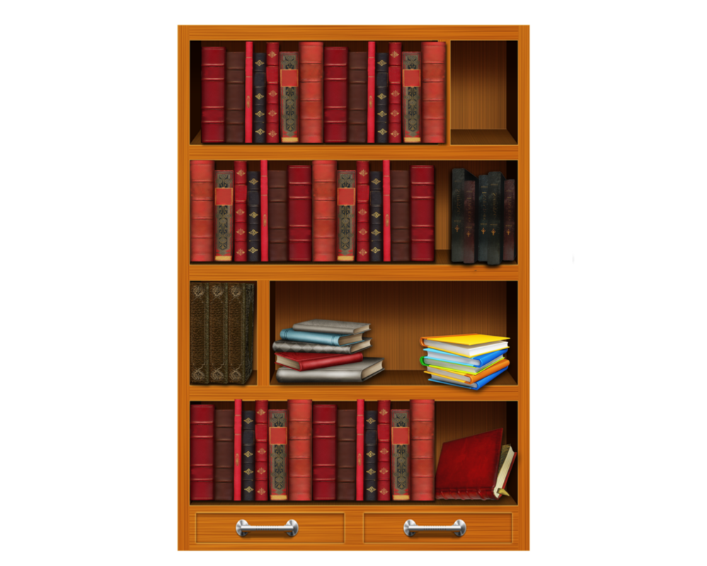 Bookshelf PNG HD