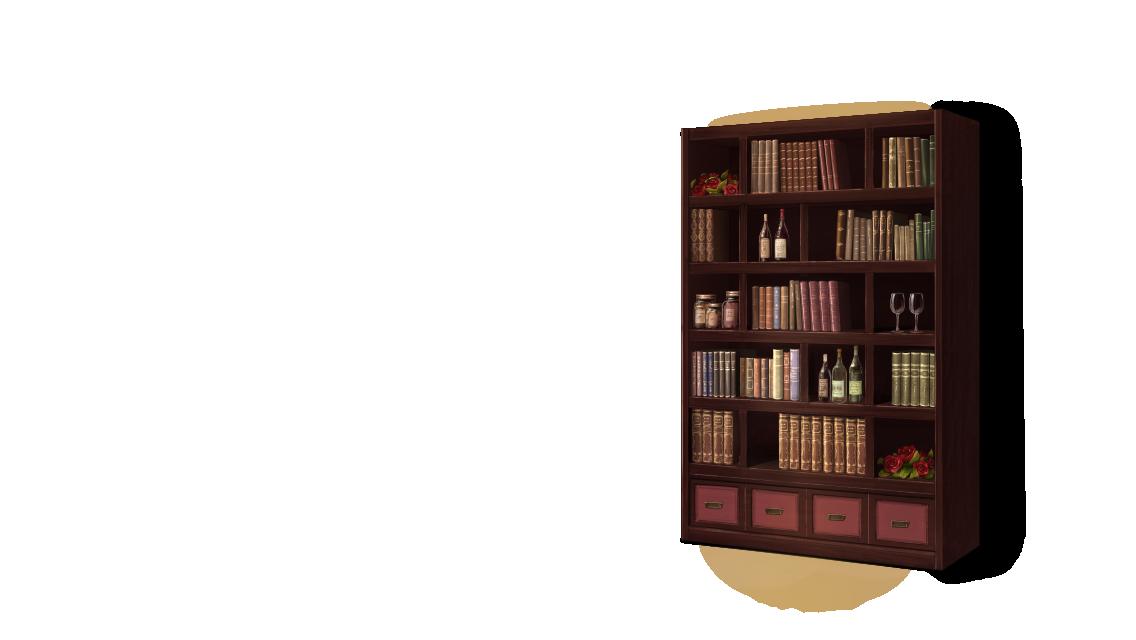 Bookshelf PNG HD - 120664