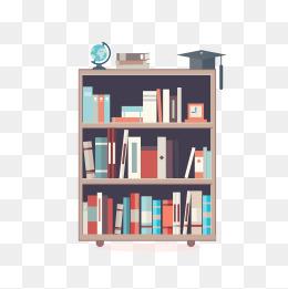 Bookshelf PNG HD - 120672