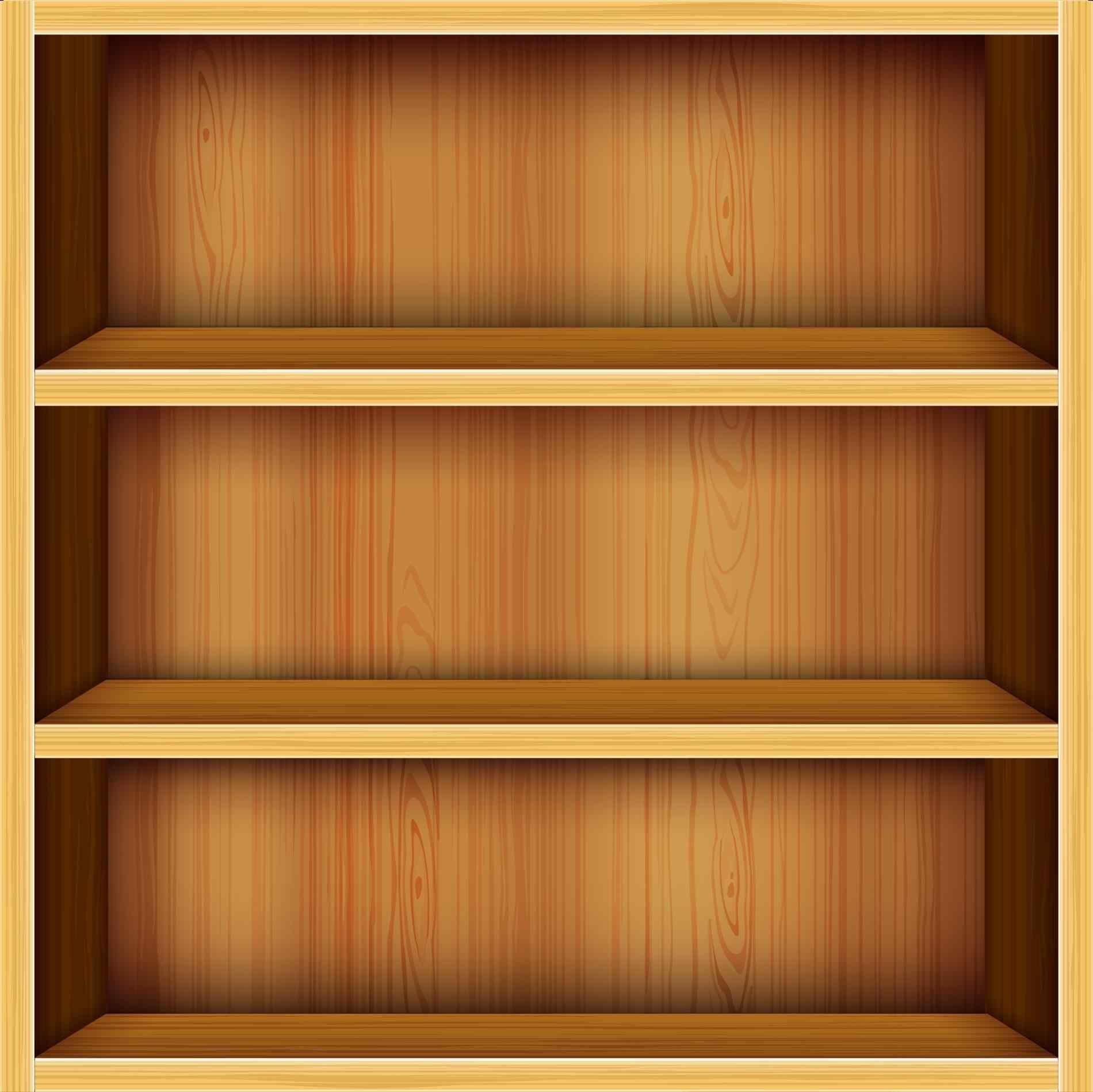 Bookshelf PNG HD - 120662