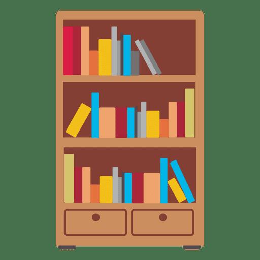 Bookshelf PNG HD - 120665
