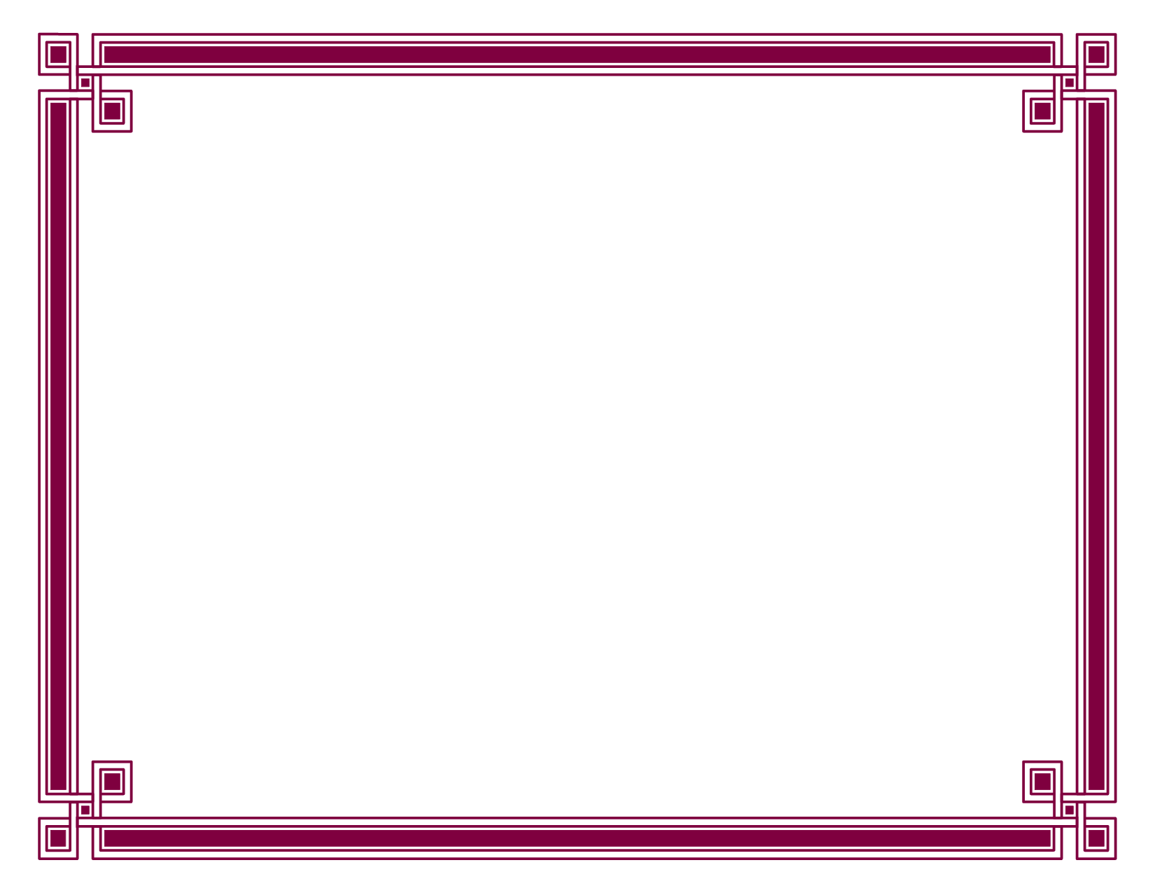 Black Borders For Certificates - Clipart library - Borders PNG HD
