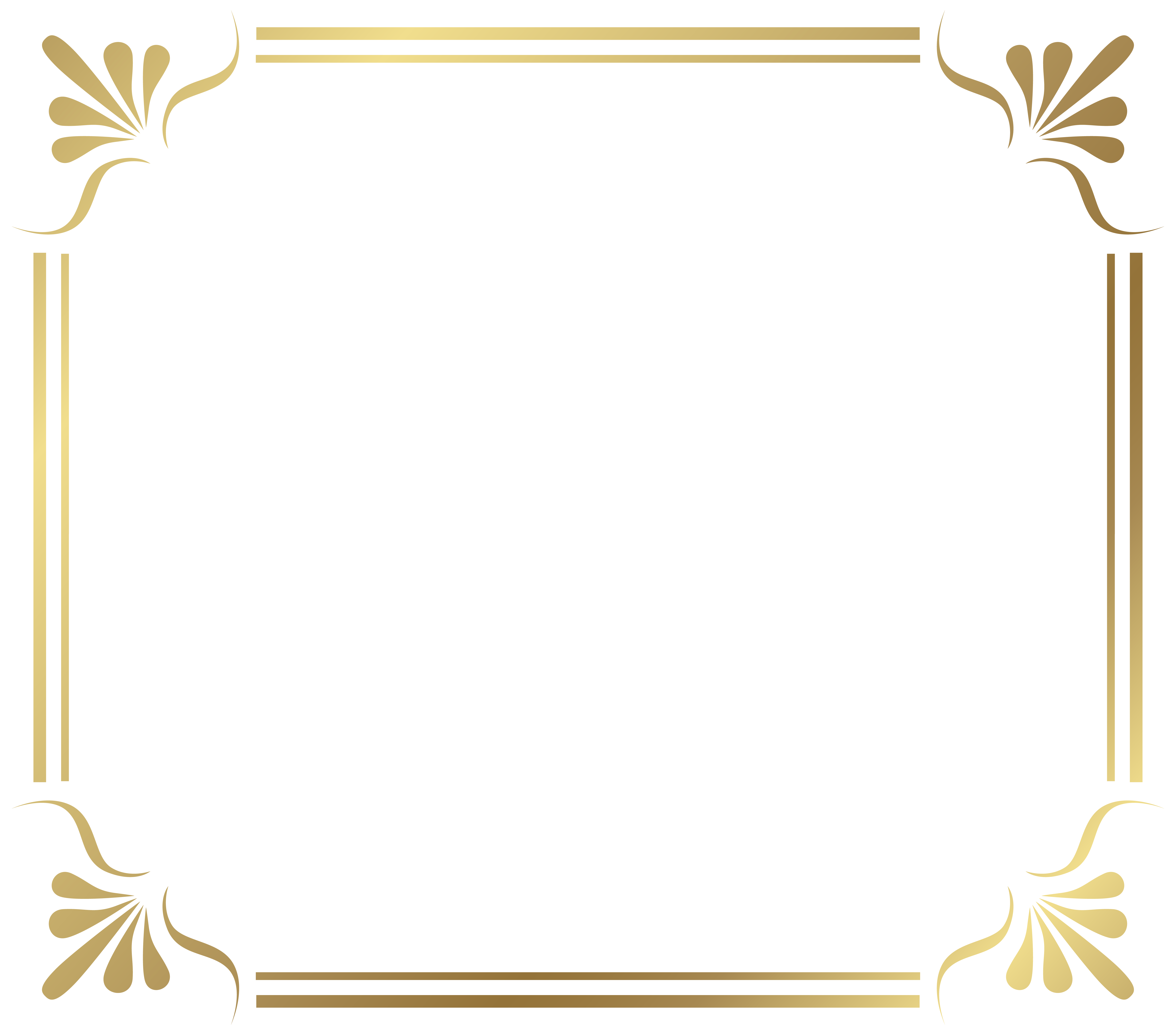 Gold Border Frame PNG File - Borders PNG HD