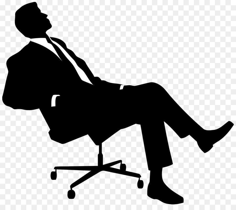 Chair Silhouette Sitting Clip Art - Boss - Boss PNG Black And White