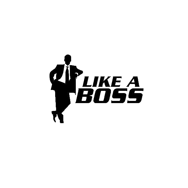 Like A Boss PNG Transparent Image - Boss PNG Black And White