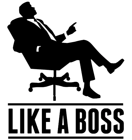 Like A Boss Transparent Background PNG Image - Boss PNG Black And White