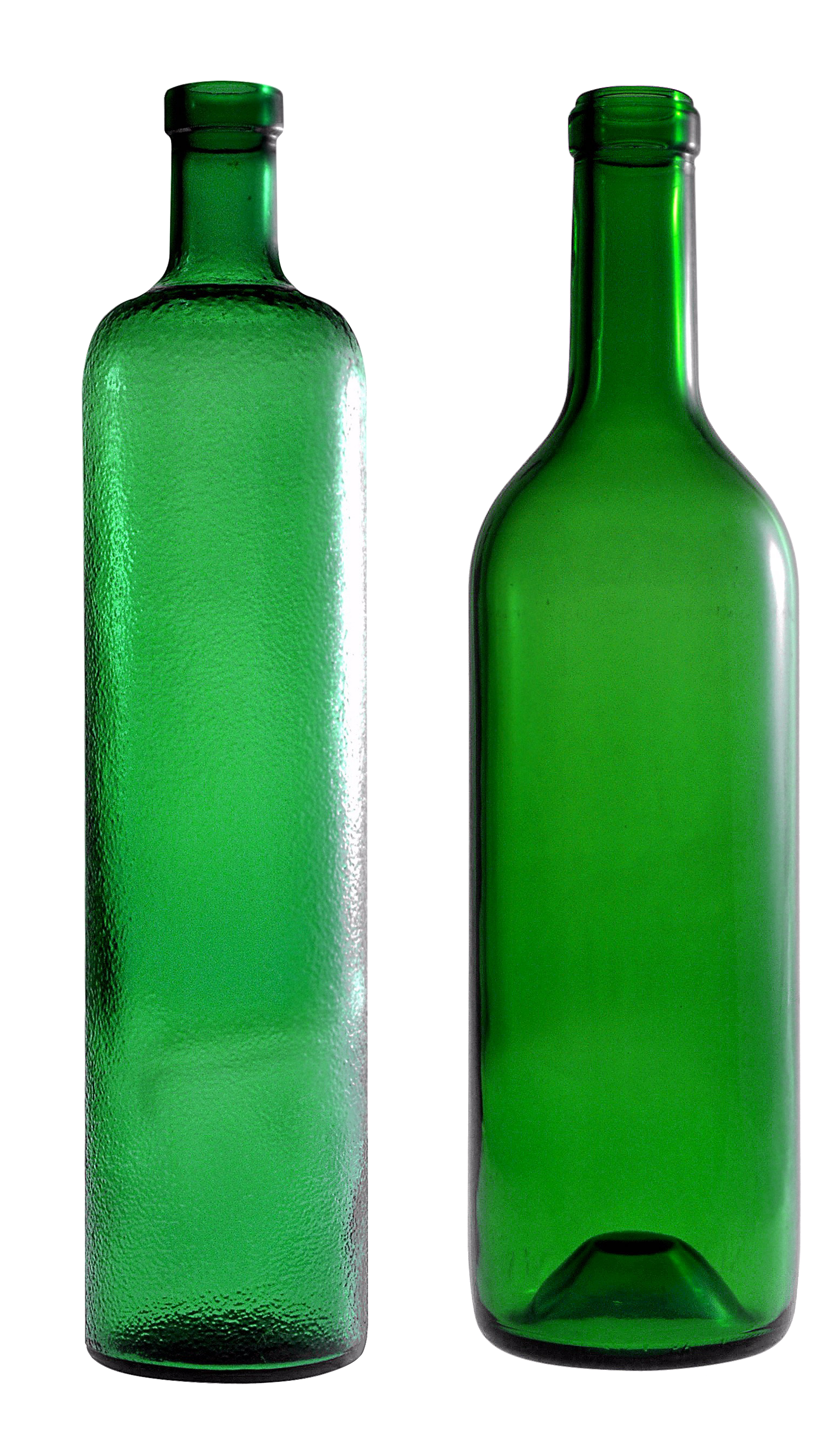 empty green glass bottle PNG image - Bottle PNG