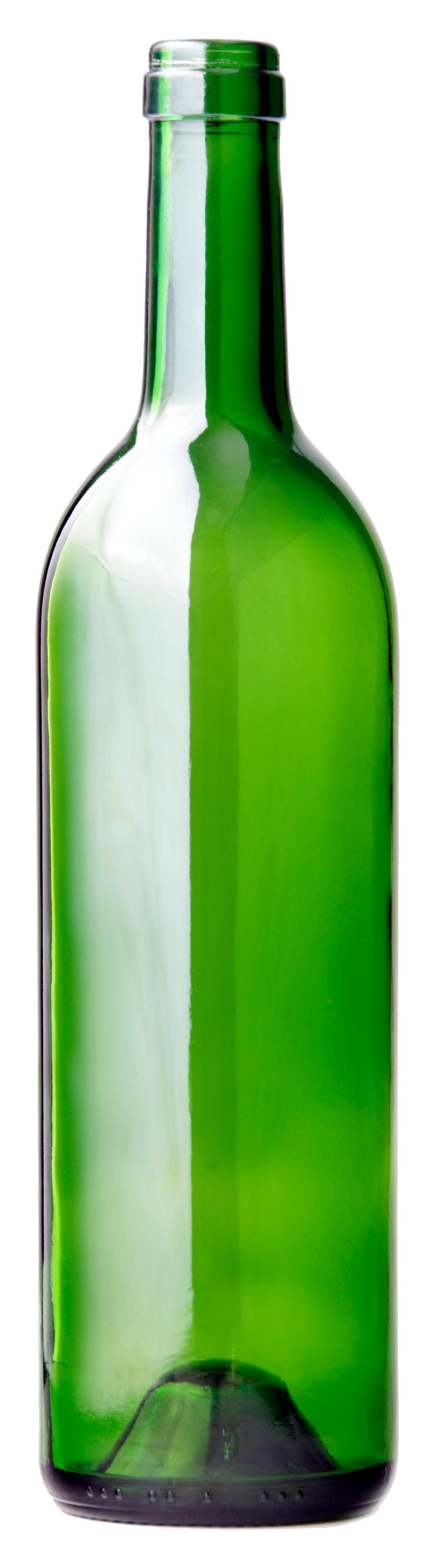Glass green bottle PNG image - Bottle PNG