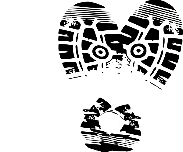 Heart Sole Shoe Blank clip art - Bottom Of Shoe PNG