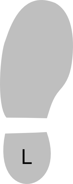 Shoe Left clip art - Bottom Of Shoe PNG