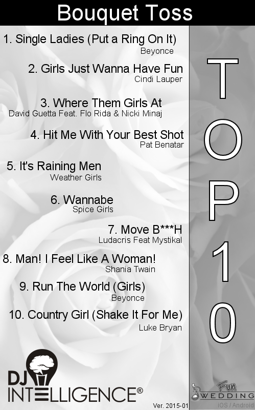 Top 10 Bouquet Toss Songs. dropthemicentertainment pluspng.com - Bouquet Toss PNG