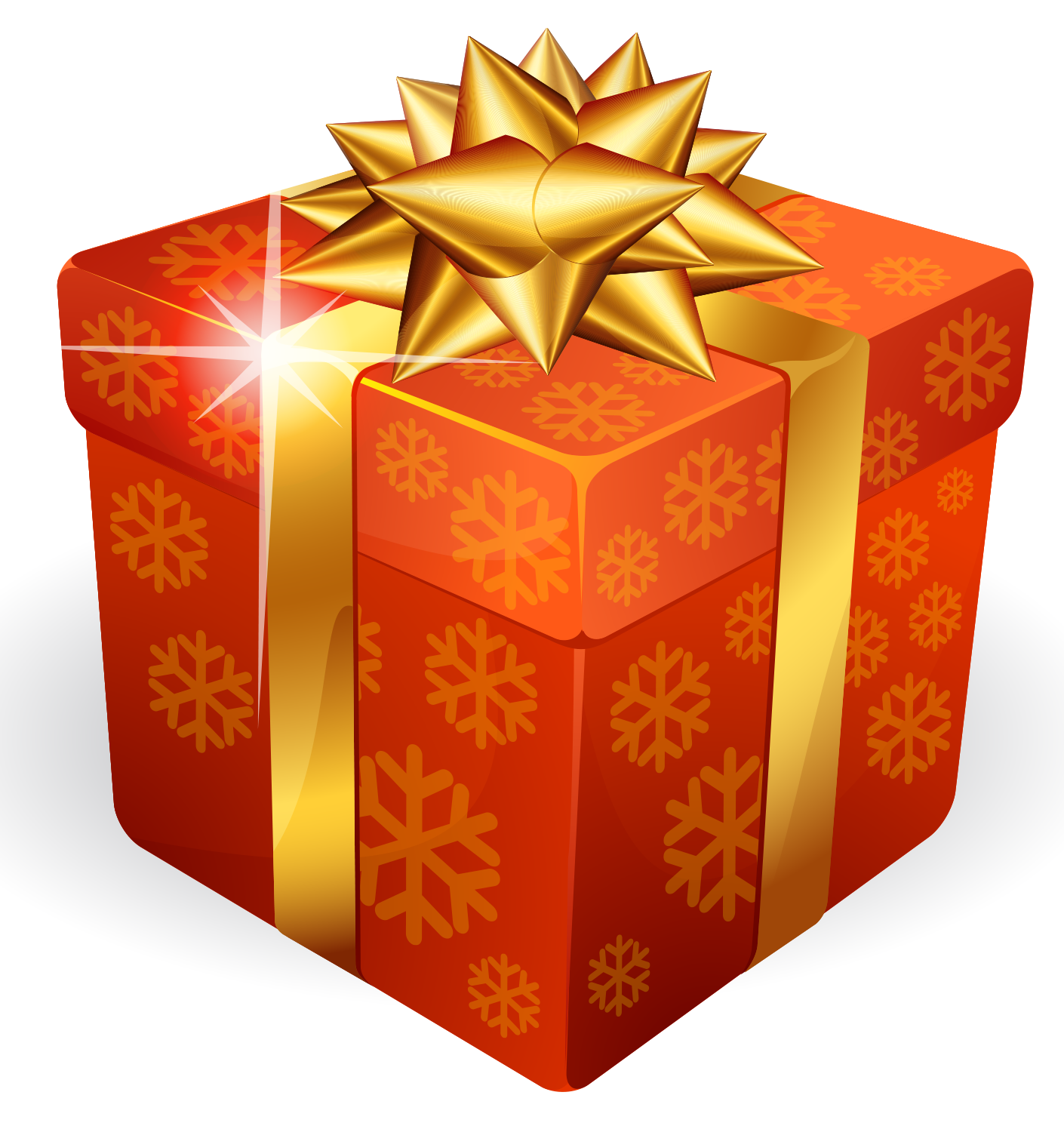 Gold Gift Box PNG - Box PNG HD